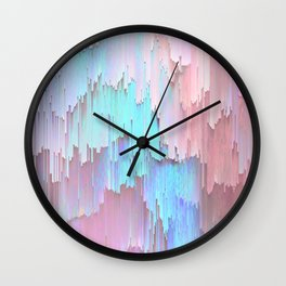 Pastel Glitches Fall Wall Clock