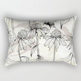Buzzing bees - neutral Rectangular Pillow