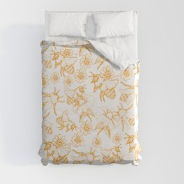Aesthetic and simple bees pattern Duvet Cover