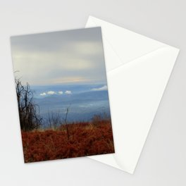 Red and Blue Mountaintop Stationery Cards