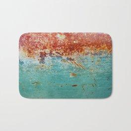 Teal Rust Bath Mat
