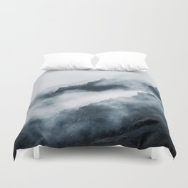 Foggy Mountains Duvet Cover