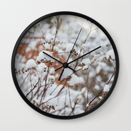 Bush in the Snow Wall Clock
