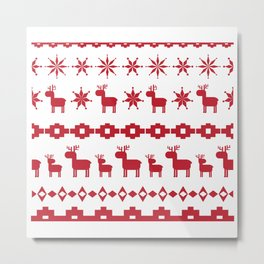 Christmas element Metal Print