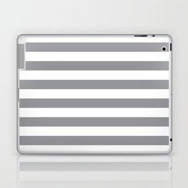 Horizontal Grey Stripes Laptop & iPad Skin