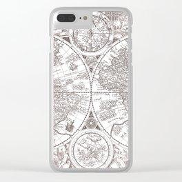 World map wall art 1594 dorm decor mappemonde Clear iPhone Case