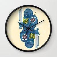 warhammer Wall Clocks featuring Space Marine - Warhammer 40k by M. Gulin