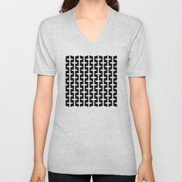 Geometric Pattern 207 (black white) Unisex V-Neck