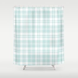 Cozy Plaid in Mint Shower Curtain