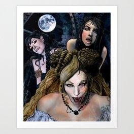 """Dracula's Concubines"" from Bram Stoker's novel ""Dracula"" Art Print"