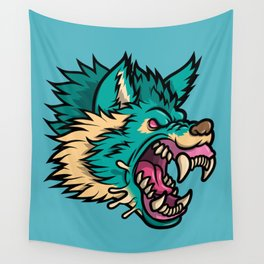 Cold Harsh Wolf Wall Tapestry