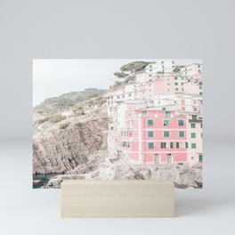 Positano, Italy Pink Travel Photography in hd Mini Art Print