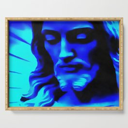 Blue Jesus Serving Tray