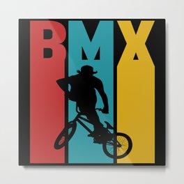 Retro BMX Metal Print
