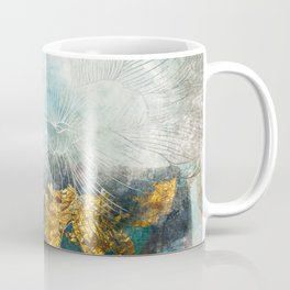 Lapis - Contemporary Abstract Textured Floral Coffee Mug