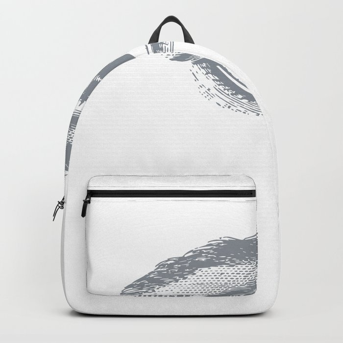 I see you. Gray on White Backpack