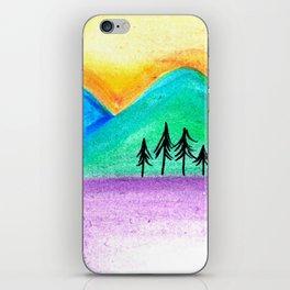 Mountains sunset landscape iPhone Skin