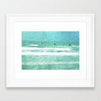 sailing Framed Art Prints featuring sailing by Iris Lehnhardt