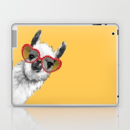 Fashion Hipster Llama with Glasses Laptop & iPad Skin