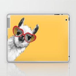 Fashion Hipster Llama with Glasses Laptop & iPad Skin
