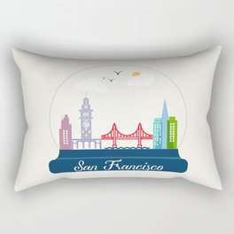 a dream of San Francisco  Rectangular Pillow