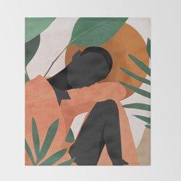 Tropical Girl 10 Throw Blanket