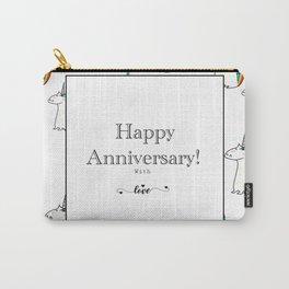 Happy Anniversary unicorn design Carry-All Pouch