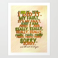Sorry Art Print