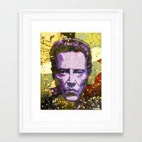 christopher walken Framed Art Prints featuring Christopher Walken by Bobby Zeik