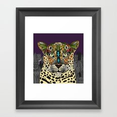 leopard queen Framed Art Print