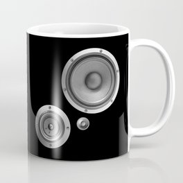 Subwoofer Speaker on black Coffee Mug