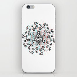 all seeing geometry iPhone Skin