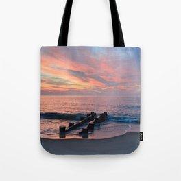 cotton candy beach sky Tote Bag