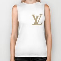 lv Biker Tanks featuring Side LV by Goldflakes