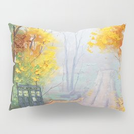 Tardis With Scenery Abstract Pillow Sham