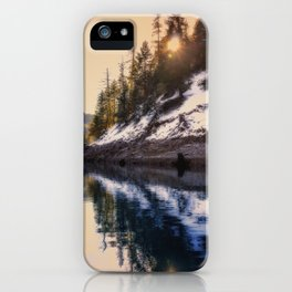 Reflections of a Dream Lake McCloud California iPhone Case
