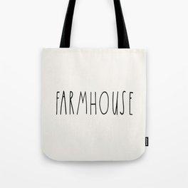 FARMHOUSE wording Typography Tote Bag
