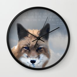 The Fox Knows Wall Clock