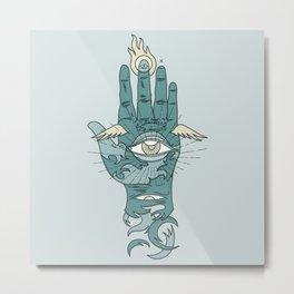 Sacred Hand Metal Print