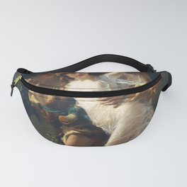 The Storm by Pierre-Auguste Cot 1880 Painting Couple in the Forest Victorian Aesthetic Illustration Fanny Pack