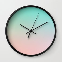 HEAVY RAINS - Minimal Plain Soft Mood Color Blend Prints Wall Clock