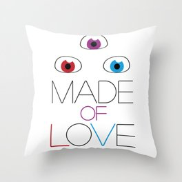 Made of love Throw Pillow