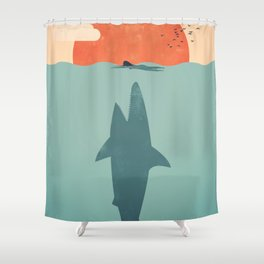 Shark Attack Shower Curtain