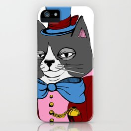 Dignified Cat iPhone Case