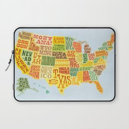 United States of America Map Laptop Sleeve