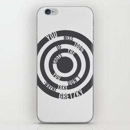 You miss 100% of the shots - Wayne Gretzky iPhone Skin