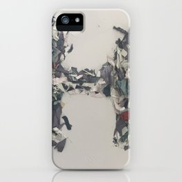 Letter H in Paint iPhone Case