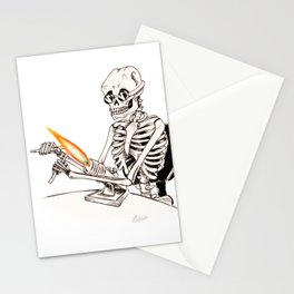 Skelly Flamerworker Stationery Cards
