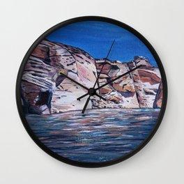 Red Rocks at Lake Powell Wall Clock