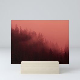 0366 Chocolate Forest with Living_Coral Fog, AK Mini Art Print